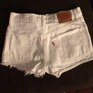 501 White Levi's Shorts